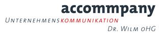 Logo von accommpany Unternehmenskommunikation Dr. Wilm oHG